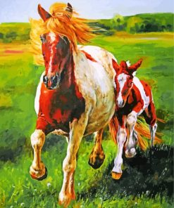 Mustang Horses Paint by numbers