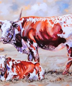 Nguni Cattle Animals Paint by numbers
