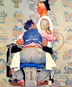 Norman-Rockwell-with-the-tattoo-guy-paint-by-numbers