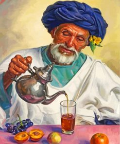 Old-moroccan-man-pouring-mint-tea-paint-by-numbers