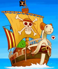 One Piece Ship Paint by numbers