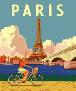 Paris City Poster Paint by numbers