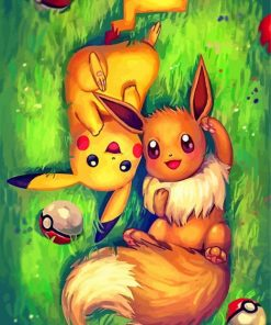 Pokemon Anime Paint by numbers