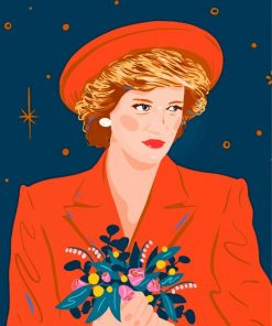Princess Diana Illustration Paint by number