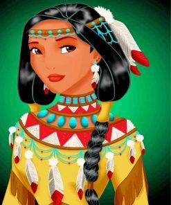 Princess Pocahontas Paint by numbers