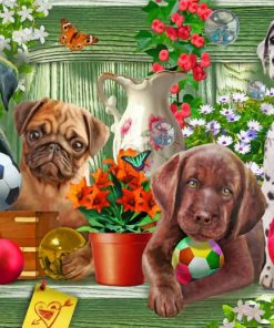 Puppies dog paint by numbers