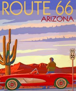 Route 66 Poster Paint by numbers