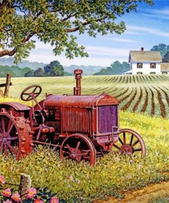 Rusty Tractor Paint by numbers