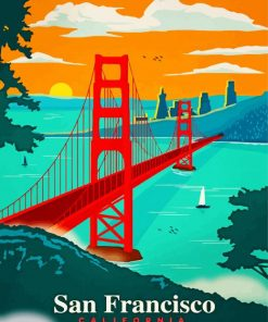 San Francisco California Paint by numbers