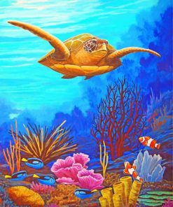Sea Turtle Paint by numbers