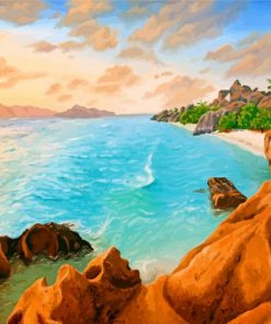 Seychelles Sea Island Paint by numbers