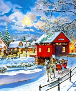 Snow Winter Country Paint by numbers