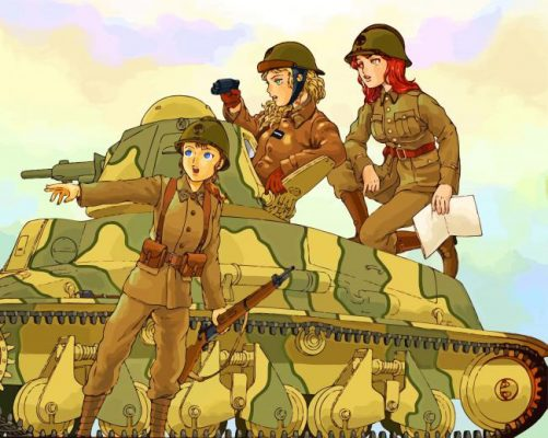 Soldier Girls Paint by numbers