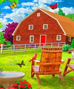 Spring Farm Paint by numbers