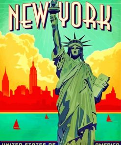Statue Of Liberty NY Paint by numbers
