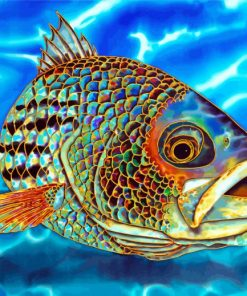 Striper Fish Paint by numbers