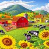 Sunflowers Farm Paint by numbers