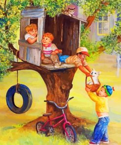 Tree House Boys Paint by numbers