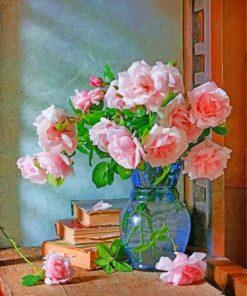 Vintage Flowers Vase Paint by numbers