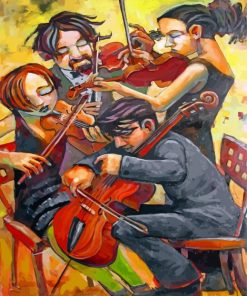 Violin Players Paint by numbers