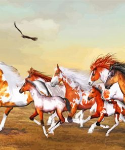 Wild Horses Herd Paint by numbers