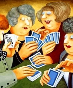 Women Playing Cards Paint by numbers