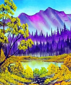 Wood Landscape Paint by numbers