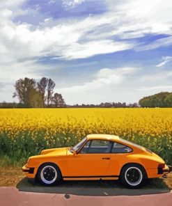 Yellow Vintage Car Paint by numbers
