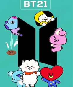 aesthetic-bt21-paint-by-number