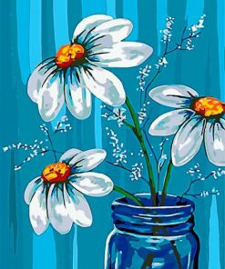 aesthetic-white-flowers-paint-by-numbers