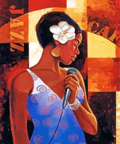 black-singer-woman-paint-by-numbers
