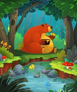 brown-bear-eating-honey-paint-by-numbers