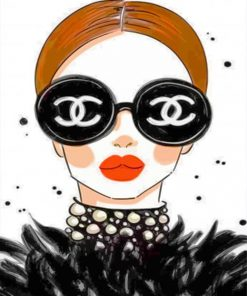 chanel-girl-paint-by-number