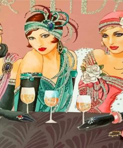 classy-ladies-celebrating-paint-by-number