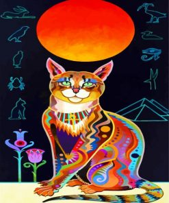 colorful-egyptian-cat-paint-by-number