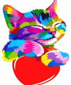 colorful-kitty-paint-by-number