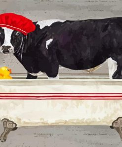 cow-taking-a-bath-paint-by-number