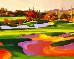 Desert Golf Course Paint by numbers