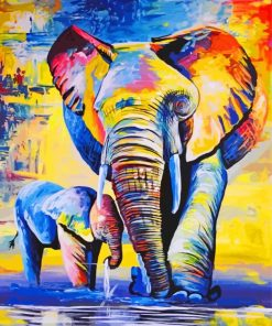 elphant-family-paint-by-number
