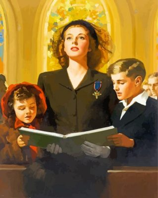 family-at-thhe-church-paint-by-numbersfamily-at-thhe-church-paint-by-numbers