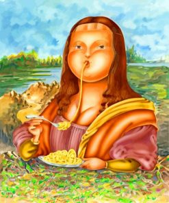 fat-mon-lisa-eating-pasta-paint-by-numbers