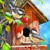 Feeding Bird Paint by numbers