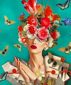 flower-woman-and-butterflies-paint-by-numbers
