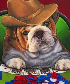 Gambling Dog Paint by numbers