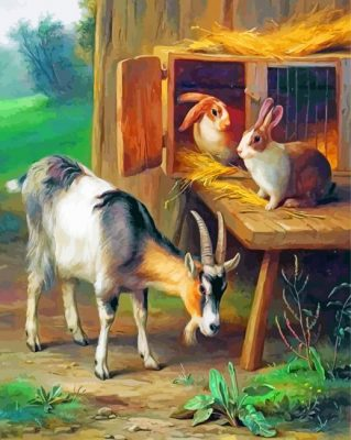 goat-and-rabbit-paint-by-number