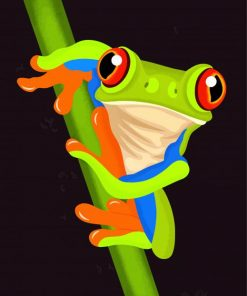 green-frog-paint-by-numbers