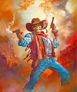 Gunslinger Skull Paint by numbers