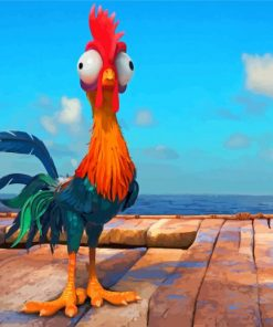 Hei Hei Rooster Paint by numbers