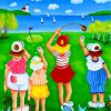 Ladies League Golf Paint by numbers