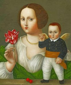 lady-with-tulipd-and-cupid-paint-by-numbers